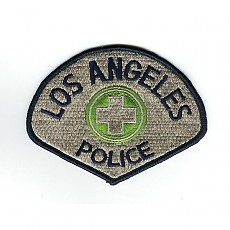LAPD Police Patch - Silver / LAPD 교통경찰 패치