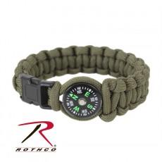 [Rothco] Paracord Compass Bracelet / 로스코 파라코드 팔찌 (나침반)
