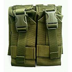 [Blackhawk] S.T.R.I.K.E. Double M4/M16 Upside Down Mag Pouch / 블랙호크 더블 M4/M16 탄창 파우치 (MOLLE  버전 - Olive Drab) (국내배송)