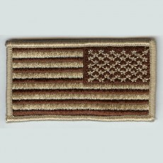 [Best Emblem & Insignia] US FLAG Patch / 성조기 패치 (Desert - Reverse)