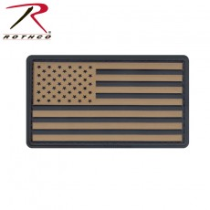 [Rothco] PVC US Flag Patch With Hook Back / [로스코] PVC 성조기 패치(벨크로 버젼)