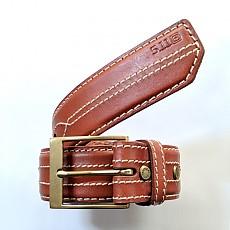 [5.11 Tactical] 1.5 Inch Stitched Leather Belt / 59502 / [5.11 택티컬] 1.5인치 스티치드 가죽 벨트 (Tan - S)