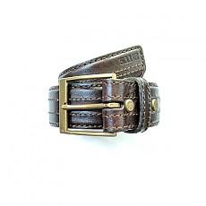 [5.11 Tactical] 1.5 Inch Stitched Leather Belt / 59502 / [5.11 택티컬] 1.5인치 스티치드 가죽 벨트 (C.Brown - S)