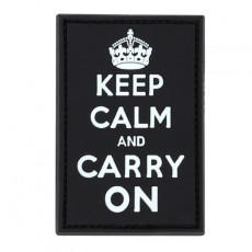 [Condor] PVC Keep-Calm, Carry-On Moral Patch / 181009 / [콘돌] 킵캄 앤 캐리온 PVC 모럴 패치