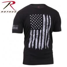 [Rothco] Distressed US Flag Athletic Fit T-Shirt / [로스코] 디스트레스드 US 플래그 애슬레틱 핏 티셔츠