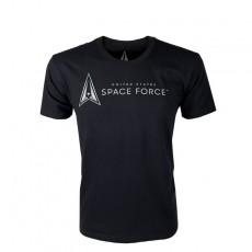 [Vanguard] Space Force Leisure T-Shirt: Black with Space Force Logo / [밴가드] 미 우주군 레저 티셔츠
