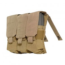 [Eagle] M4 Triple Mag Pouch MOLLE / [이글] M4 트리플 탄창 파우치 (색상 : Black)