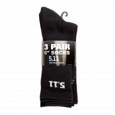 [5.11 Tactical] 6 Inch Socks 3-Pack / 50078 / [5.11 택티컬] 6인치 양말 - 3팩