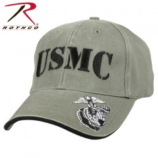 [Rothco] Deluxe Vintage USMC Embroidered Low Pro Cap / 9738 / [로스코] | 미해병대 볼캡