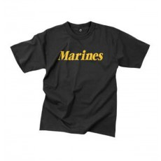 [Rothco] Marines Printed T-Shirt (Black - M)