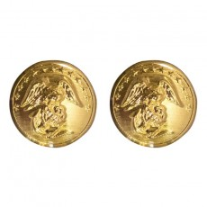 [Vanguard] Marine Corps Button: 27 Ligne - 24K Gold Plated | 미해병대 정복 코트 단추 (소형)
