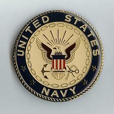 Navy Car Grill Badge