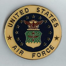 Airforce Car Grill Badge