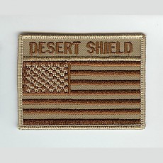 [Best Emblem & Insignia] US Flag Patch  -Desert Shield-