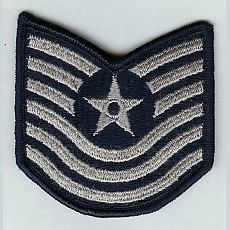 US Air Force Master Sergeant Sew On Patch (Old Style) - Small Color / 미공군 중사 계급장 (구형)