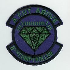 US Air Force 8th Comptroller Squadron Patch / 미공군 제8통제대 패치