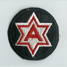 US Army Patch: Sixth Army - color / 미육군 제6군 패치