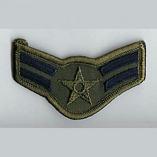 US Air Force Airman First Class Sew On Patch (Old Style) - Small Subdued / 미공군 일병 계급장 (구형)