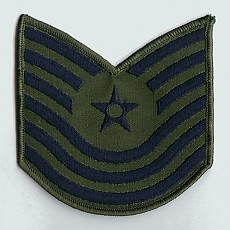 US Air Force Master Sergeant Sew On Patch (Old Style) - Large Subdued / 미공군 중사 계급장 (구형)