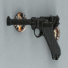 Full-Size Pewter Pin - Luger (Black)