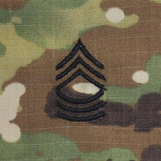 [Vanguard] Army Embroidered OCP Sew on Rank Insignia: Master Sergeant